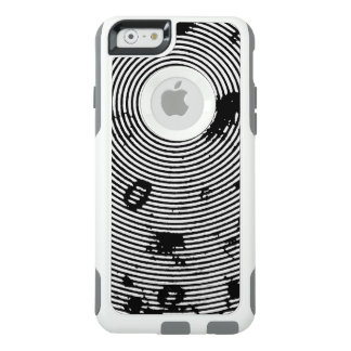 Black/White Circled Pattern OtterBox iPhone 6/6s Case