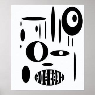 Black & white Cirkel Talk Poster