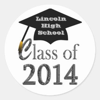 Black & White Class Of 2014 Graduation Stickers