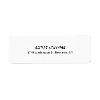 Black & White Classical Handwriting Legible Return Address Label