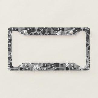 Black + White Clockwork Number Plate Frame