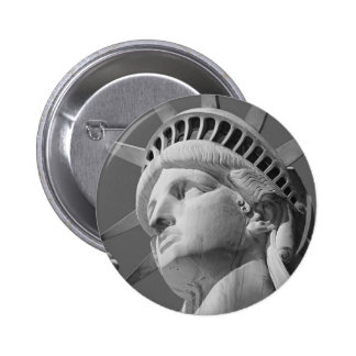 Black & White Close-up Statue of Liberty 2 Inch Round Button