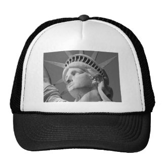 Black White Close-up Statue of Liberty Hat