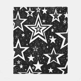 BLACK & WHITE COLLECTION - FLEECE BLANKET - STARS