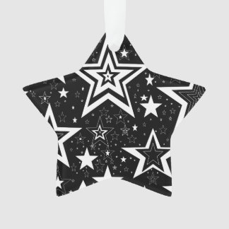 BLACK & WHITE COLLECTION - STARS ORNAMENT