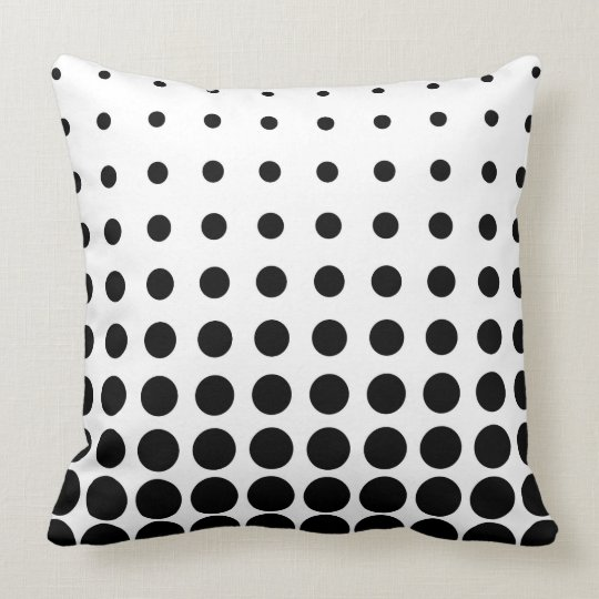 Black & White Colourful Vector abstract dot Throw Pillow