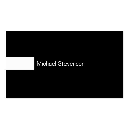 Black & White Consultant Business Card