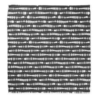 Black White Contemporary Tribal Stripes Kerchief