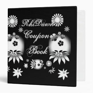 Black/White Coupon Book Vinyl Binder