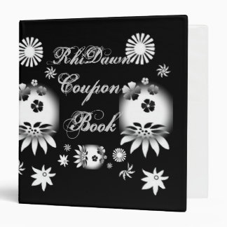 Black/White Coupon Book Vinyl Binder