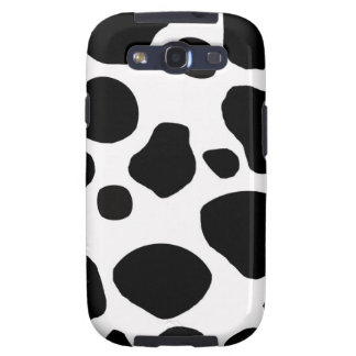 BLACK WHITE COW SPOTS ANIMAL PRINT GALAXY S3 COVERS