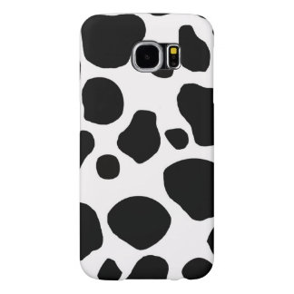 Black White Cow Spots Samsung Galaxy S6 Cases