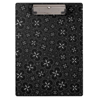 Black White Crop Circle Clipboards