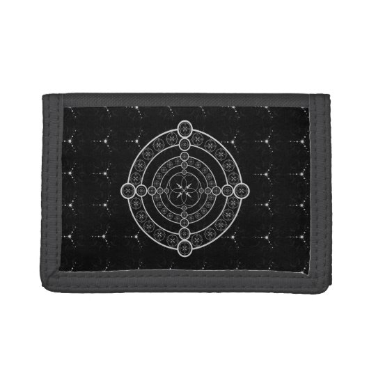 Black White Crop Circle Tri-fold Wallet