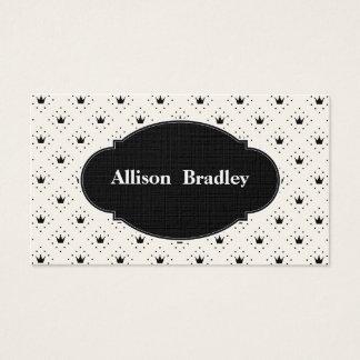 Black & White Crowns 6-Line Entrepreneur Business Card