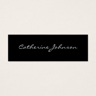 Black White Custom Personal Social or Professional Mini Business Card