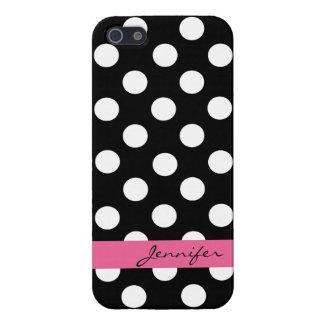 Black & White Custom Polka Dot iPhone 5 Case