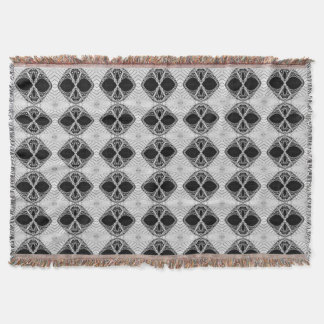 Black & White Custom Throw Rug For Your Home