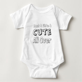 Black, White & Cute All Over, Biracial Cutie Baby Bodysuit