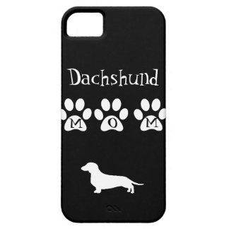 Black/White Dachshund Mom iPhone 5 Covers