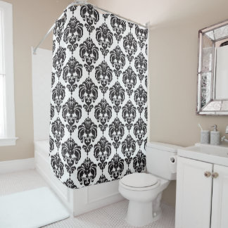 Black & White Damask Chic Modern Elegant Pattern