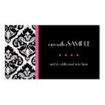 Black & White Damask, Hot Pink Business Card