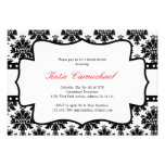 Black & White Damask Invitation