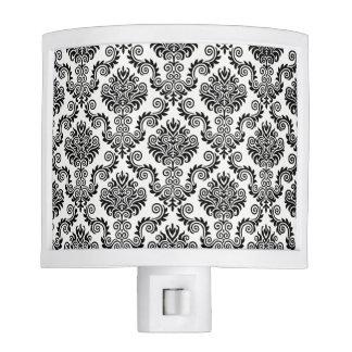 Black & White Damask Pattern{pick your color} Night Lites