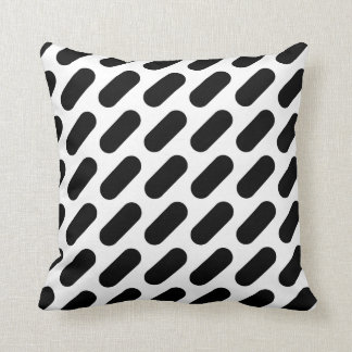 Black & White Dashes Throw Pillow