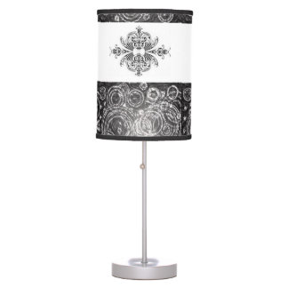 black white decorative lamp shade