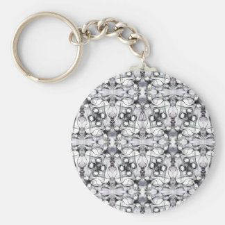 Black & white decorative pattern keychain