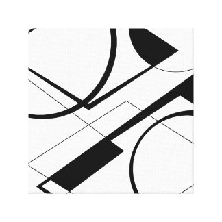 Black&White design Canvas Print
