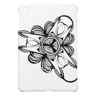 Black & White design on iPad Mini glossy case iPad Mini Covers