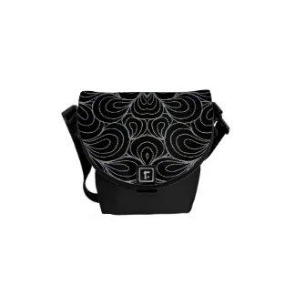BLACK & WHITE DESIGN RICKSHAW MESSENGER BAG