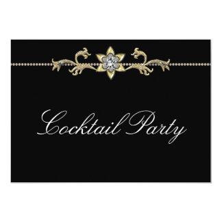 Black White Diamond Black White Cocktail Party Card