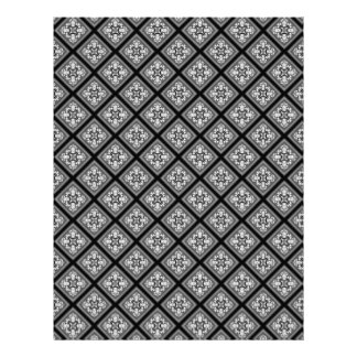 Black & White Diamond Clusters Scrapbook Paper