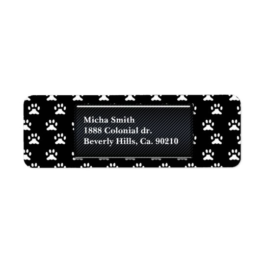 Black & White Dog Paws Monogram