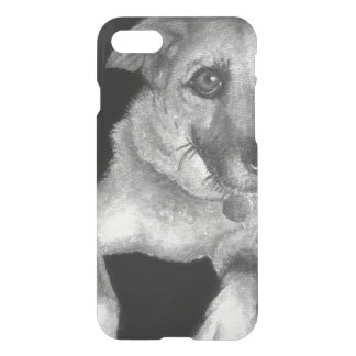 Black & White Dog Portrait Hand Painted iPhone 7 Case