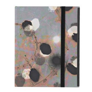 Black white dots grunge style unity digital art iPad folio case