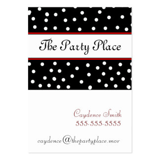 Black & White Dots-Maroon Large Business Card