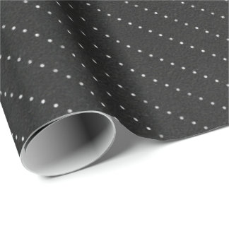 Black White  Dots Stripes Lines Delicate Elegant Wrapping Paper
