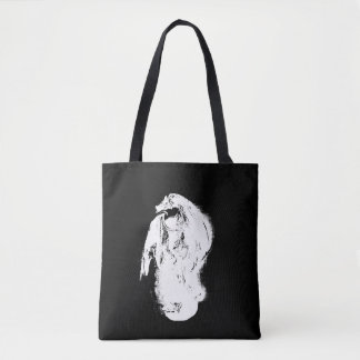 Black & White Dragon Tote Bag