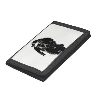 Black & White Dragon Tri-fold Wallet