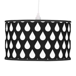 Black/White Drops Pendant Lamp