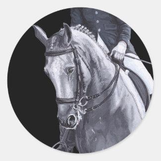 Black & White Duo Dressage Horse sticker