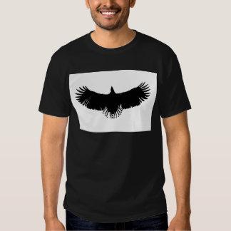 Black & White Eagle Silhouette Tee Shirts