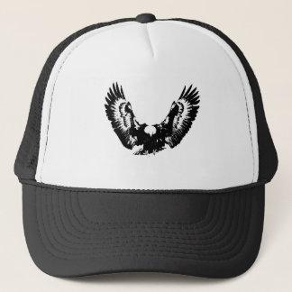 Black & White Eagle Trucker Hat