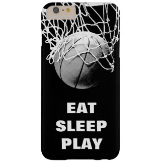 Black White Eat Sleep Play Basketball Motivational Barely There iPhone 6 Plus Case