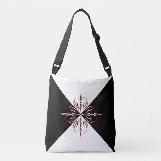 """""""Black & White Edwardian"""" Cross Body Bag"""