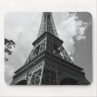 Black & White Eiffel Tower in Paris Mouse Pad